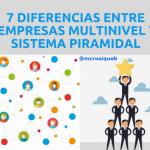 7 DIFERENCIAS ENTRE EMPRESAS MULTINIVEL EXITOSAS Y SISTEMAS PIRAMIDALES